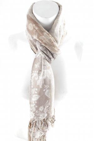 Sciarpa con frange motivo floreale stile casual