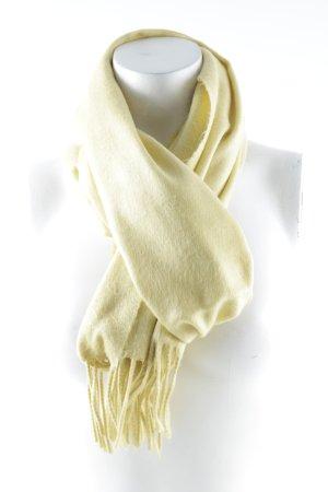 Fransenschal gelb klassischer Stil