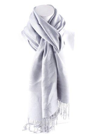 Écharpe à franges bleu azur-bleu pâle motif embelli style décontracté