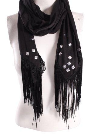 Écharpe noir-argenté