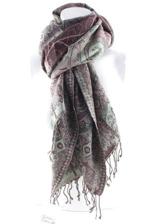 Sjaal met franjes Patroon-mengeling casual uitstraling