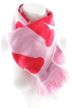 Fransenschal rosa-dunkelrot Street-Fashion-Look
