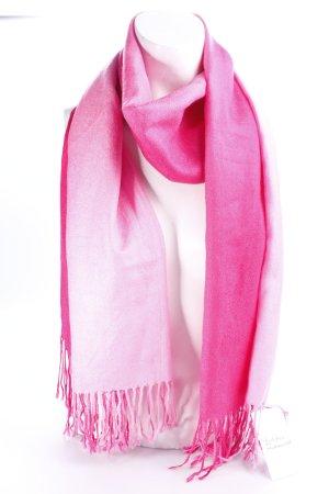 Fransenschal rosa-pink Farbverlauf Casual-Look