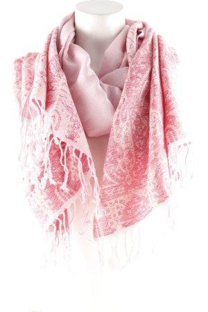Fransenschal rosé-pink florales Muster Casual-Look
