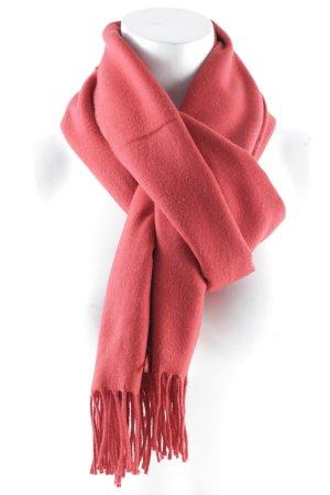 Fransenschal rot klassischer Stil
