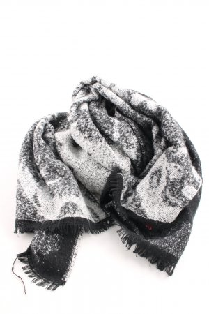 Fringed Scarf black-light grey simple style