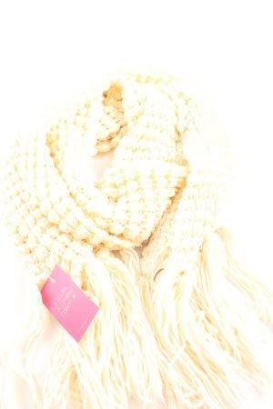 Sjaal met franjes wolwit casual uitstraling