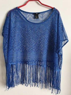 H&M Crochet Top blue