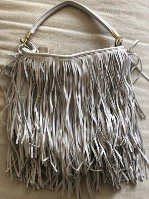 H&M Fringed Bag light grey