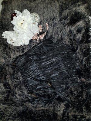 Fringed Bag black-gold-colored