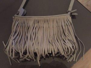Hallhuber Fringed Bag silver-colored