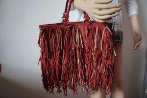 Fringed Bag brick red