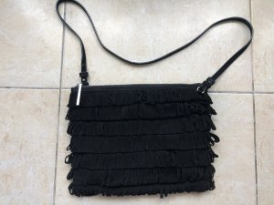Whistles Fringed Bag black-silver-colored leather