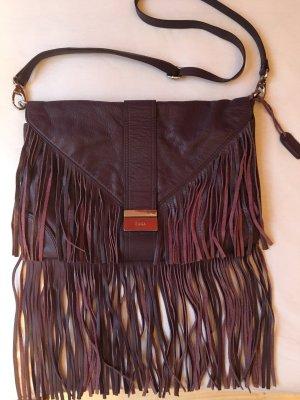 Zara Fringed Bag blackberry-red