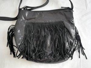 Gerry Weber Fringed Bag black imitation leather