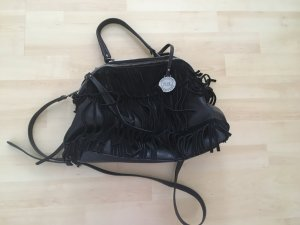 Xti Fringed Bag black-silver-colored