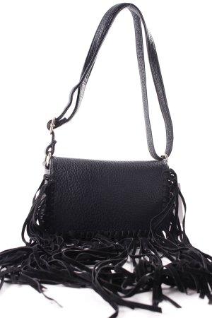 Fringed Bag black Boho look