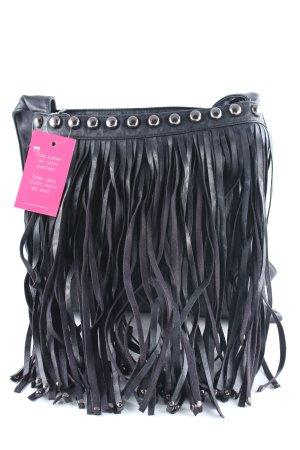Fringed Bag black urban style