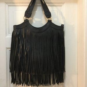 Fransentasche Tasche mit Fransen fringe Shopper Tote Bag