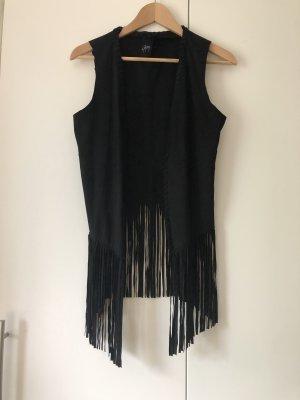 Gipsy Fringed Vest black