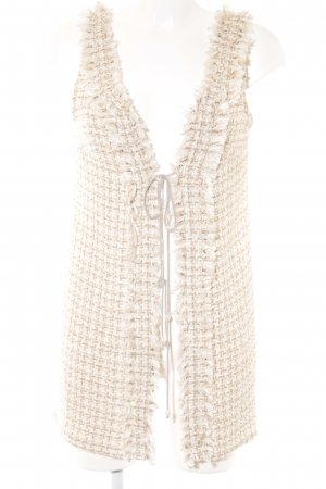 Fringed Vest natural white-gold-colored lace look