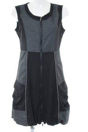 Franstyle Robe de bal noir-blanc motif rayé style festif