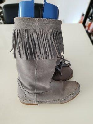 Botas bajas gris claro