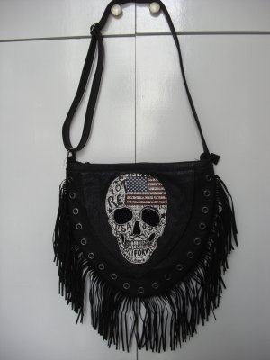 Fringed Bag black