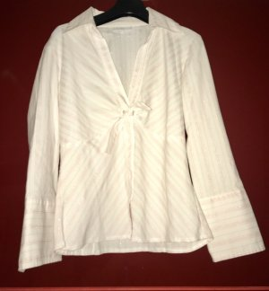 Französische Bluse von Mim weiß mit pinken Streifen Gr. T2 (36)