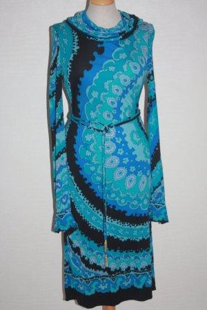 Französisches Seidenkleid Seidenjersey Vintage sehr edel 34 36