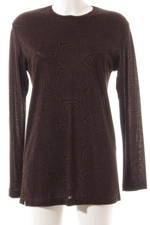 Frapp Longsleeve schwarz-braun abstraktes Muster schlichter Stil
