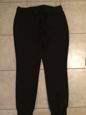 Frapp schwarze Stretchhose Gr. 44 mit Bündchen am Bein