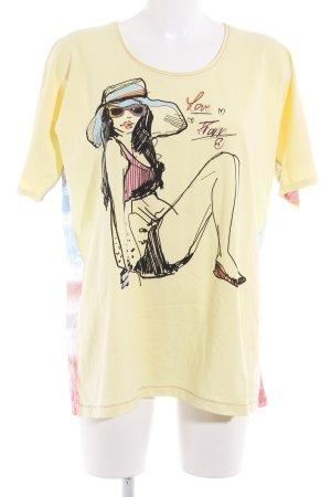 Frapp T-Shirt blassgelb Motivdruck Comic-Look