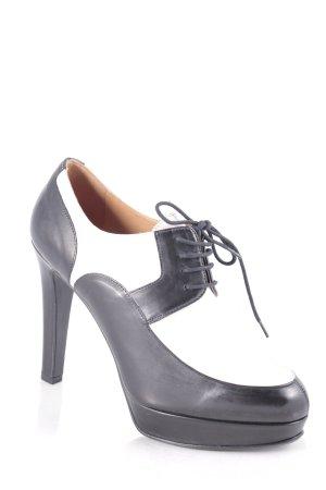 Fratelli rossetti Ankle Boots schwarz-creme klassischer Stil
