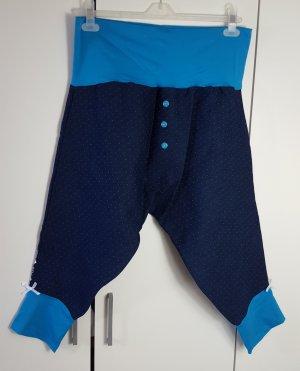 Harembroek donkerblauw-neon blauw Katoen