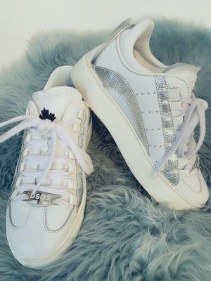 Dsquared2 High Top Sneaker white-silver-colored