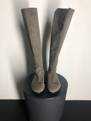 Jackboots grey brown leather