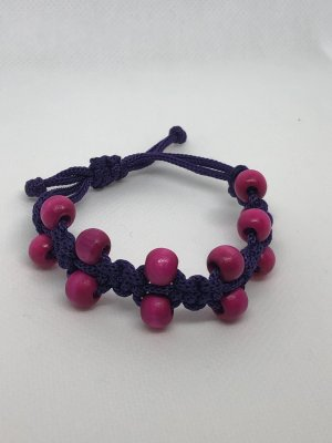 Bangle dark violet-pink