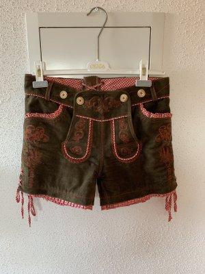 Krüger Pantalon traditionnel en cuir multicolore