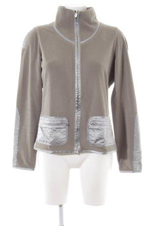 Frauenschuh Fleecejacke braun-silberfarben sportlicher Stil