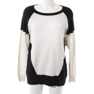 frc cashmere Strickpullover schwarz-weiß Casual-Look