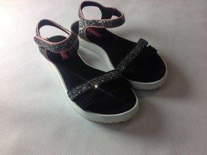 Freakige Glitzer Klett-Sandalen mit rosa