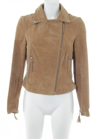 Freaky Nation Lederjacke braun Casual-Look