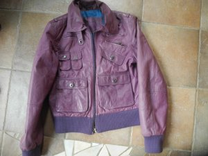 Freaky Nation Lederjacke, Casual-Look violett