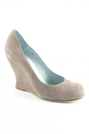Fred de la bretoniere Keil-Pumps hellbraun Casual-Look