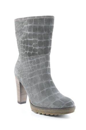Fred de la bretoniere Reißverschluss-Stiefeletten graubraun Casual-Look