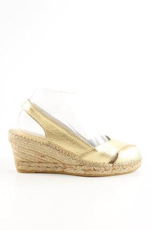 Fred de la bretoniere Wedge Sandals gold-colored casual look