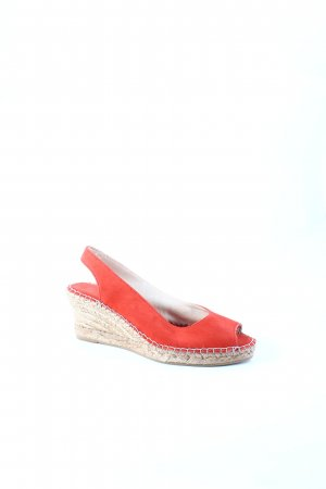 Fred de la bretoniere Wedge Sandals red Bast elements