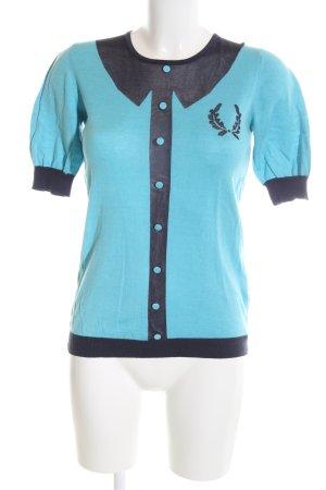 Fred Perry Jersey de manga corta turquesa-azul Aplicación del logotipo
