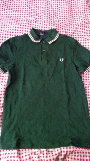 Fred Perry Camiseta tipo polo blanco-verde bosque Algodón